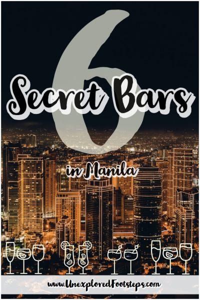 6 Secret Bars in manila