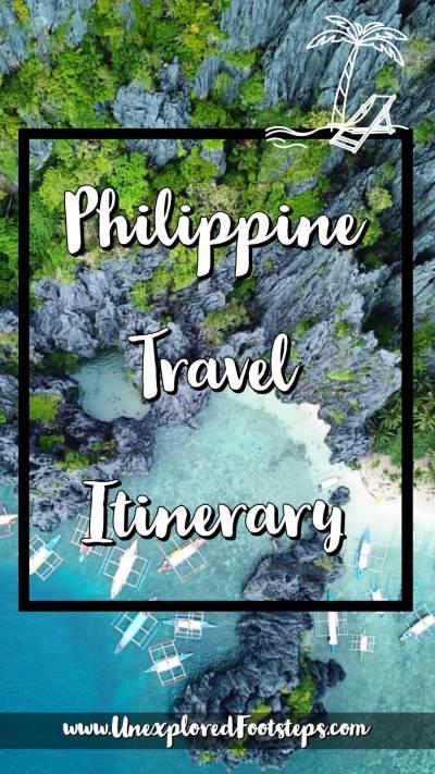Philippine Travel Itinerary