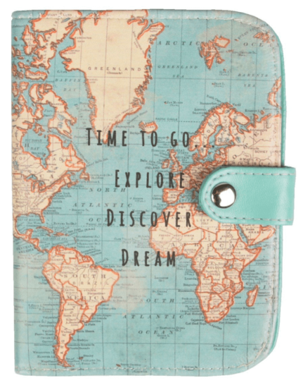 Passport Cover - 10 Gift ideas for someone going travelling!