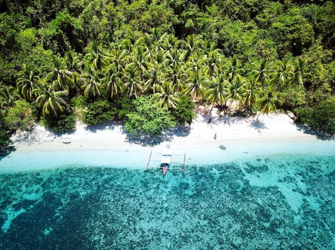 Secret island around Port Barton, Palawan, Philippines